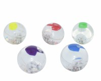 Dreidel Bouncing Ball Assorted Colors - One Piece