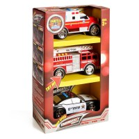 Emergency Vehicles with Lights and Sounds 3 Piece Set