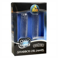 2 Pack Clear Light Lined Candle Shaped Glass #145 4""