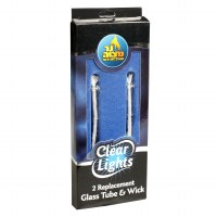 Glass Tube and Wick Replacement - 2 Pack