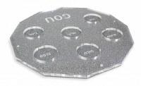 """Hexagon Lucite Seder Plate Silver Kaarah 13.5"""""""