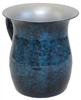 Stainless Steel Wash Cup Blue Marble Design