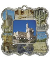Magnet Holy Sites Frame Blue