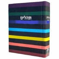 Tehillim Tefillos Ubakushos Hebrew Large Size Multi Color Stripes [Hardcover]