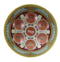 Ornaments Glass Seder Plate