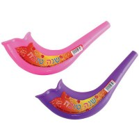 Plastic Shofar for Children - Assorted Colors - Single Piece