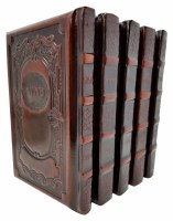 Machzor Beis Tefillah 5 Volume Set Full Size Antique Leather Two Tone Brown Ashkenaz