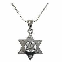 Necklace Magen David with Stones