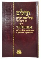 Tehillim Hebrew and Russian Burgundy Large Size [Hardcover]
