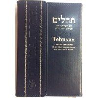 Tehilim Hebrew Russian Transliterated and Translated Compact Edition Magnetic Flap Blue [Hardcover]