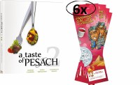 A Taste of Pesach 2 with 6 Passover Seder Book Cards [Hardcover]