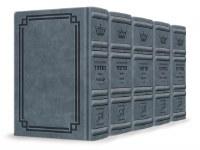 Artscroll Interlinear Machzorim Schottenstein Edition 5 Volume Set Signature Leather Collection Full Size Blue Lagoon Leather Sefard