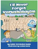 I'll Never Forget Yerushalayim Book with CD [Hardcover]