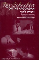 Rav Schachter On The Haggadah [Hardcover]