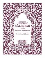 The Executive Jewish Calendar 5782/2021-2022