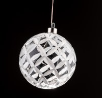 Large Glass Ball Ornament with LED Lights Sukkah Decoration