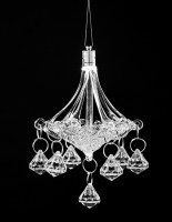 Glass Chandelier Large Size with LED Lights Sukkah Decoration