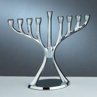 Aluminum Modern Candle Menorah