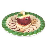 Apples Honey Plate with Covered Bowl and Dipper