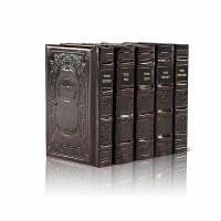 Artscroll Machzorim 5 Volume Set Genuine Leather Full Size Ashkenaz 2 Tone Brown