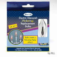 Electric Replacment Menorah Bulbs Flickering Flame Shaped 3 Pack