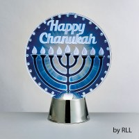 Chanukah LED Light Up Decoration Menorah Design