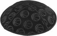 Kippah Suede Basketball Design Size Medium Black