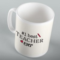 #1 Best Teacher Ever Mug 11 oz