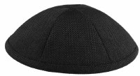 Kippah Black Burlap 6 Part One Size Fit All