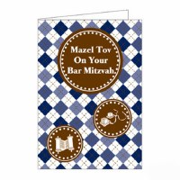 Bar Mitzvah Counter Card