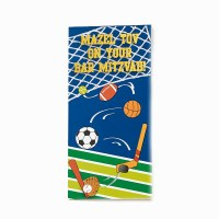 Bar Mitzvah Wallet Card Sports