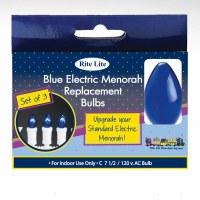 Electric Replacement Menorah Bulbs Blue 3 Pack