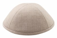Cool Kippah Beige Linen 4 Part 19cm