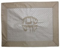 Challah Cover Vinyl 2 Tone Brown Double Textured Design