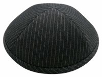 Cool Kippah Grey Pinstripe Suit Material 4 Part 21cm