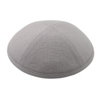 Cool Kippah Grey Linen 4 Part 18cm