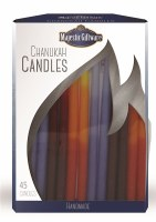 Chanukah Candles Blue Red and Orange Executive Collection 45 Count