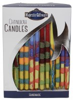Chanukah Candles Blue Maroon Pink and Green Executive Collection 45 Count