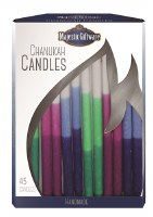 Chanukah Candles Blue Pink and Green Executive Collection 45 Count 6""