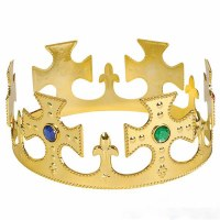 Gold Crown with Jewels Plastic Youth Size 1 piece Purim Costume Accessory