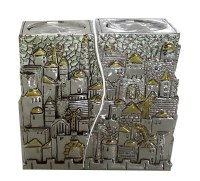 Candle Sticks Jerusalem Design Tall Rectangle Connecting Fits
