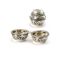 Silver Plated Folding Travel Candlesticks for Tea Lights