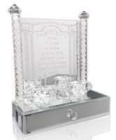 Crystal Candle Sticks Holder with Drawer 12""