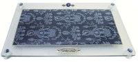 Challah Tray On Legs Applique - Blue