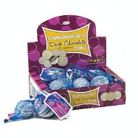 Chanukah Gelt Pareve Dark Chocolate Coins 24 Bags