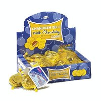 Chanukah Gelt Milk Chocolate Coins 24 Bags