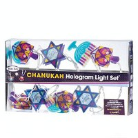 Chanukah Hologram Light Set 10 Reflectors