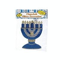 Chanukah Menorah Glitter Decoration