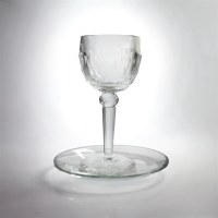 Crystal Kiddush Cup and Cup of Elijah with Matching Saucer