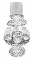 Crystal Wine Fountain with 6 Cups 11""